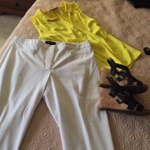 Talbots heritage fit white dress pants